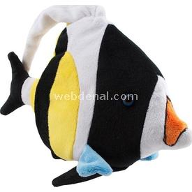 Necotoys Neco Plush Siyah Beyaz Balık Peluş Oyuncak 20 Cm Peluş Oyuncaklar