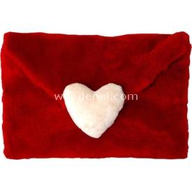 Neco Plush Kalpli Peluş Zarf Kırmızı 32x22 Cm Peluş Oyuncaklar