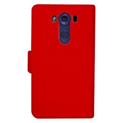 Microsonic Lg V10 Kılıf Cüzdanlı Deri Kırmızı Cep Telefonu Kılıfı