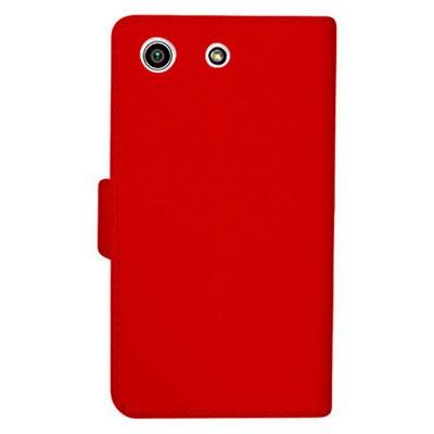 Microsonic Sony Xperia M5 Kılıf Cüzdanlı Deri Kırmızı Cep Telefonu Kılıfı