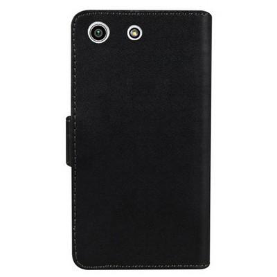 Microsonic Sony Xperia M5 Kılıf Cüzdanlı Deri Siyah Cep Telefonu Kılıfı