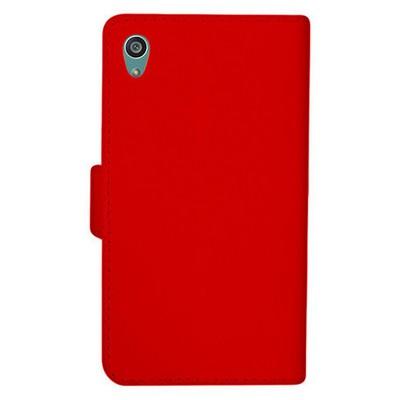 Microsonic Sony Xperia Z5 Premium Kılıf Cüzdanlı Deri Kırmızı Cep Telefonu Kılıfı