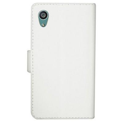 Microsonic Sony Xperia Z5 Premium Kılıf Cüzdanlı Deri Beyaz Cep Telefonu Kılıfı