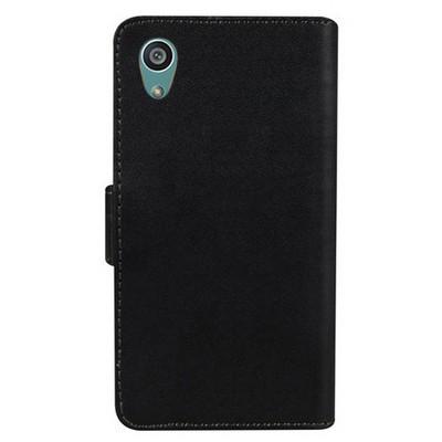 Microsonic Sony Xperia Z5 Kılıf Cüzdanlı Deri Siyah Cep Telefonu Kılıfı