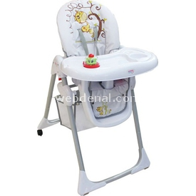 Sunny Baby 103 Yeni Platin  Beyaz Mama Sandalyesi