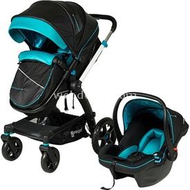 Prego 2075 Viola Travel Bebek Arabası Siyah-turkuaz Travel Sistem Bebek Arabası