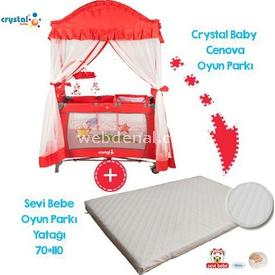 Crystal Baby 407 Cenova  Kampanyası 70x110 Kırmızı Park Yatak