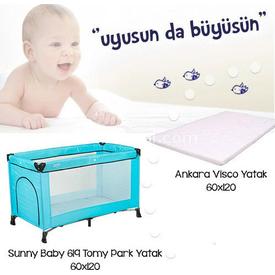 Sunny Baby 619 Tomy  Kampanyası Mavi Park Yatak