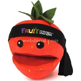 Necotoys Fruit Ninja Sesli Peluş Çilek 12 Cm Peluş Oyuncaklar
