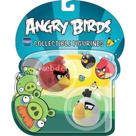 Angry Birds 3d Kırmızı Ve Beyaz Kuş 2'li Figür Peluş Oyuncaklar