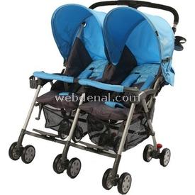 Sunny Baby 760 Yeni Flamingo Ikiz Bebek Arabası Mavi İkiz Bebek Arabası