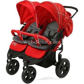 Sunny Baby 814 Sweety Ikiz Bebek Arabası Kırmızı İkiz Bebek Arabası