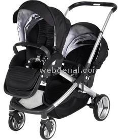 Prego 2072 Ibiza Ikiz Bebek Arabası Siyah İkiz Bebek Arabası