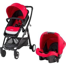 Prego 2088 Neon Travel Bebek Arabası Kırmızı Travel Sistem Bebek Arabası
