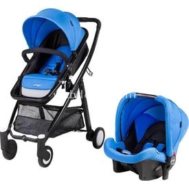 Prego 2088 Neon Travel Bebek Arabası Mavi Travel Sistem Bebek Arabası