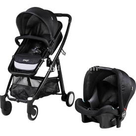 Prego 2088 Neon Travel Bebek Arabası Siyah Travel Sistem Bebek Arabası
