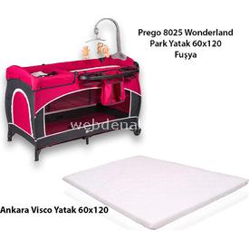 Prego Kampanyalı 8025 Wonderland Oyun Parkı + Ankara Visco Yatak Fuşya Park Yatak