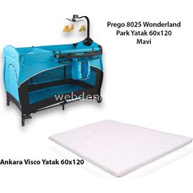 Prego Kampanyalı 8025 Wonderland Oyun Parkı + Ankara Visco Yatak Mavi Park Yatak