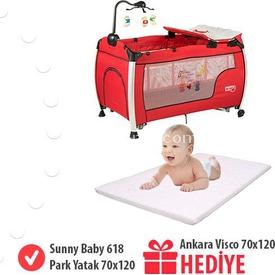 Sunny Baby Hediyeli 618 Delmon  Kampanyası Kırmızı Park Yatak
