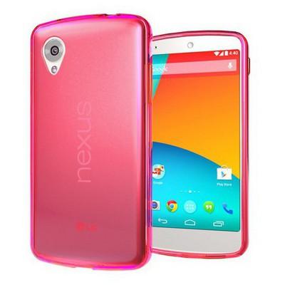 Microsonic Transparent Soft Lg Nexus 5 Kılıf Pembe Cep Telefonu Kılıfı