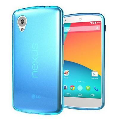 Microsonic Transparent Soft Lg Nexus 5 Kılıf Mavi Cep Telefonu Kılıfı