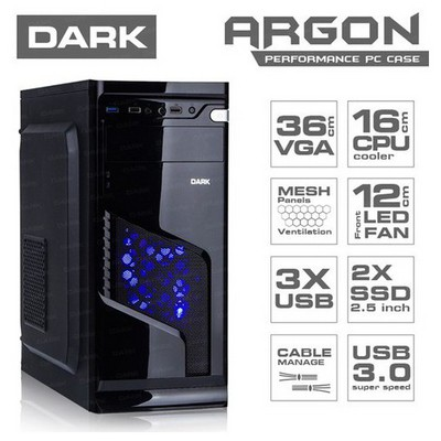 Dark Argon Mid Tower Kasa (DKCHARGON)