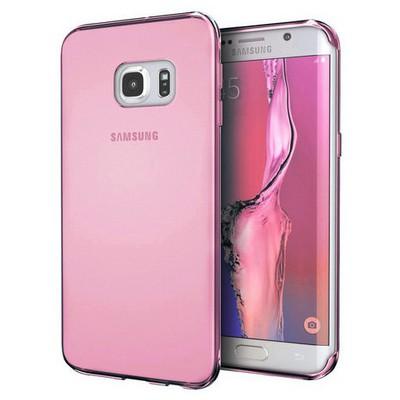 Microsonic Samsung Galaxy S7 Edge Kılıf Transparent Soft Pembe Cep Telefonu Kılıfı