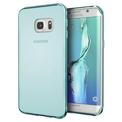 Microsonic Samsung Galaxy S7 Edge Kılıf Transparent Soft Mavi Cep Telefonu Kılıfı