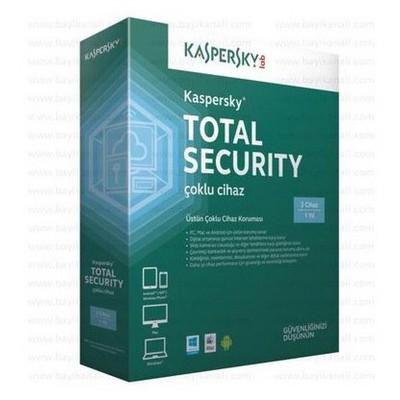 Kaspersky Total Sec. 3 Kul.1yıl Güvenlik Yazılımı
