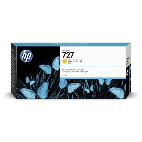 HP F9j78a (727) Sarı 300 Ml Geniş Format Mürekkep u Kartuş