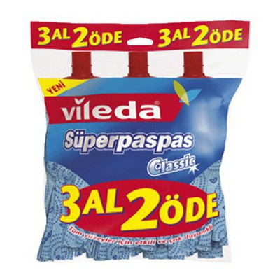 Vileda Süper Paspas Classic 3 Al 2 Öde Mop ve Aparatları