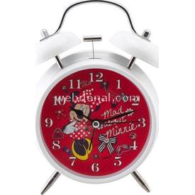 YKC Minnie Mouse Alarmlı Ve Işıklı Masa Saati Bebek Odası Aksesuarı