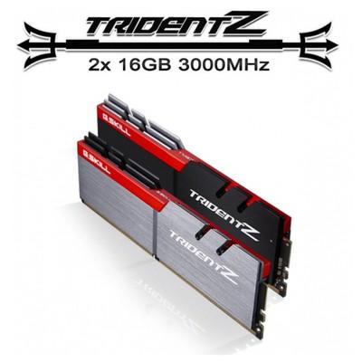 G.Skill F4-3000c14d-32gtz Trıdent Z Ddr4-3000mhz Cl14 32gb (2x16gb) Dual (14-14-14-34) 1.35v RAM