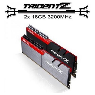 G.Skill F4-3200C15D-32GTZ TRIDENT Z DDR4-3200Mhz CL15 32GB (2X16GB) DUAL (15-15-15-35) 1.35V RAM
