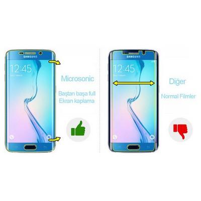 Microsonic Samsung Galaxy S7 Edge Kavisler Dahil Tam Ekran Kaplayıcı Şeffaf Koruyucu Film Ekran Koruyucu Film