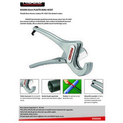 Ridgid 23498 Rc-1625 Cırcırlı Alüminyum Plastik Boru Kesme Makası Testere