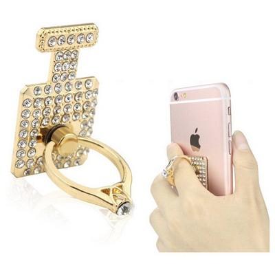 Microsonic Cep Telefonu Taşlı Yüzük Halka Tutucu Stand Gold Araç Aksesuarları