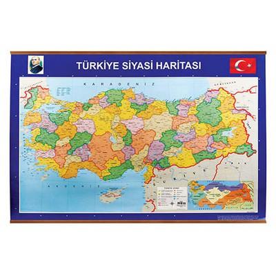 Panda 403 Türkiye Siyasi + Fiziki Çitalı Harita 70x100 Cm Eğitim Gereci