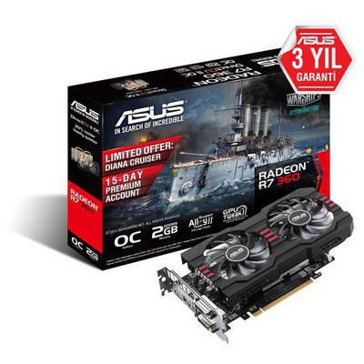 Asus Radeon R7 360 2G v2 OC Ekran Kartı