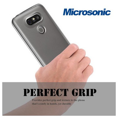Microsonic Lg G5 Kılıf Transparent Soft Mavi Cep Telefonu Kılıfı