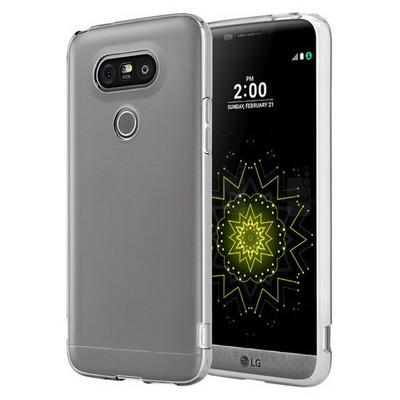 Microsonic Lg G5 Kılıf Transparent Soft Beyaz Cep Telefonu Kılıfı