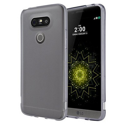 Microsonic Lg G5 Kılıf Transparent Soft Siyah Cep Telefonu Kılıfı