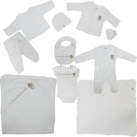 Zeyland K-61h1101 Hastane Çıkış Seti 10 Lu Ekru 0-3 Ay (56-62 Cm) Kız Bebek Hastane Çıkışı