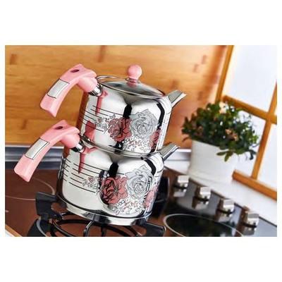Evimsaray S 1151 Mini Boy Rose Dekorlu Çaydanlık