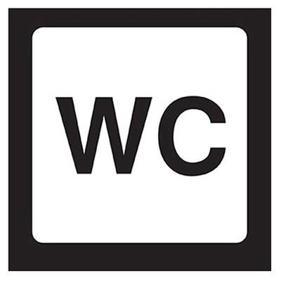 Crea Tiket Creatiket 1173 Wc Etiketi Bilgilendirme Levhası