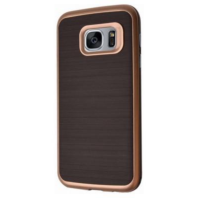 Microsonic Samsung Galaxy S7 Edge Kılıf Slim Heavy Duty Gold Cep Telefonu Kılıfı