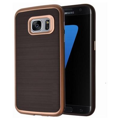 Microsonic Samsung Galaxy S7 Kılıf Slim Heavy Duty Gold Cep Telefonu Kılıfı