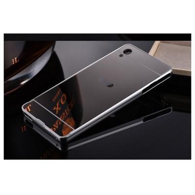 Microsonic Sony Xperia M4 Aqua Kılıf Luxury Mirror Gümüş Cep Telefonu Kılıfı