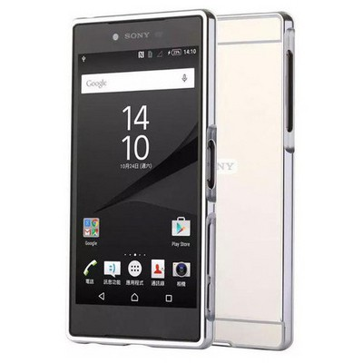 Microsonic Sony Xperia Z5 Kılıf Luxury Mirror Gümüş Cep Telefonu Kılıfı