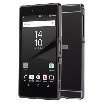 Microsonic Sony Xperia Z5 Kılıf Luxury Mirror Siyah Cep Telefonu Kılıfı